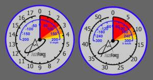 Alti-Force Altimeter available for video editing in DashWare, feet or meter versions