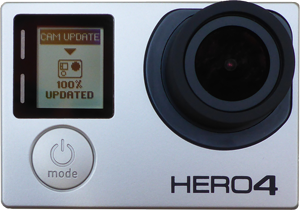 GoPro Hero4 camera updated with the latest Alti-Force software supporting QuikCapture